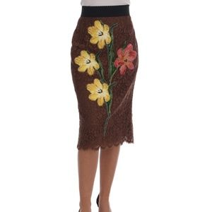Lace Floral Flower Skirt